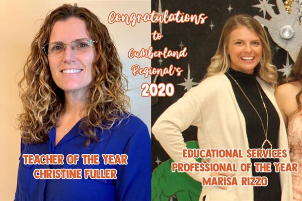 2020 CRHS Teacher of Year and Educational Services Professional of Year